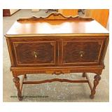 Walnut Two Tone 2 Door Server with Gallery Auction Estimate $100-$300 – Located Inside