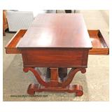 ANTIQUE Mahogany Empire Style Partners Desk Auction Estimate $300-$600 – Located Inside