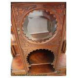 ANTIQUE Mahogany Victorian Carved Étagère Auction Estimate $200-$400 –Located Inside