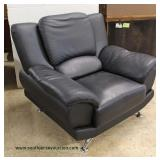 NEW Leather Contemporary Club Chair Auction Estimate $200-$400 – Located Inside