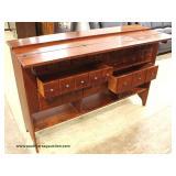 "Cherry Contemporary ""Lexington Furniture"" 8 Drawer Flip Top Buffet Auction Estimate $300-$600 – Loca"