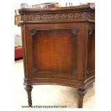 Walnut Two Tone Carved 3 Drawer Bow Front Chest Auction Estimate $200-$400 – Located Inside