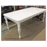 NEW Contemporary White Farm Style Kitchen Table Auction Estimate $100-$300 – Located Inside