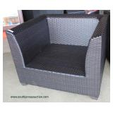 NEW PAIR of Rattan Resin Wicker Chairs with Cushions Auction Estimate $200-$400 – Located Inside