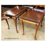 PAIR of Mahogany Queen Anne Tea Tables Auction Estimate $100-$200 – Located Inside