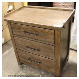 "NEW ""Liberty Furniture"" Contemporary Rustic Style 3 Drawer Chest Auction Estimate $50-$100 – Located"