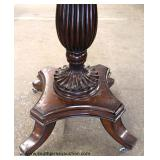 Contemporary Mahogany Carved Base Star Burst Top Parlor Table Auction Estimate $100-$200 – Located I