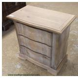 NEW Contemporary White Washed 3 Drawer Chest Auction Estimate $50-$100 – Located Inside