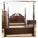 "5 Piece ""Liberty Furniture"" Mahogany Shell Carved Bedroom Set with Ball and Claw Shell Carved High B"