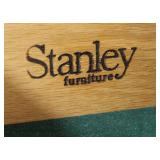 "4 Piece ""Stanley Furniture"" Maple Diamond Inlaid Bedroom Set with Full Headboard and Fitted Interior"