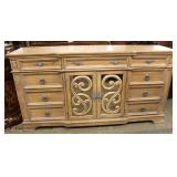 NEW Contemporary 8 Drawer 2 Door Credenza Auction Estimate $200-$400 – Located Inside
