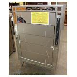 NEW Contemporary Grey High Chest with Mirror Accents Auction Estimate $200-$400 – Located Inside