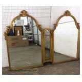 Large Double Decorator Mirror  Auction Estimate $50-$100 – Located Inside