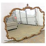 Carved Gilted Decorator Mirror  Auction Estimate $50-$100 – Located Inside