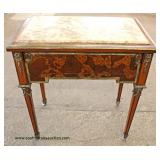 Burled Marble Top French Style Table  Auction Estimate $100-$300 – Located Inside