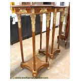 PAIR of Marble Top French Style Pedestals with Heavily Applied Bronze  Auction Estimate $300-$600 –