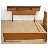 "3 Piece ""Bassett Furniture"" Mid Century Modern Danish Walnut Bedroom Set with Full Size Bed  Auctio"
