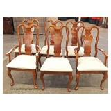 "8 Piece ""American Drew Furniture"" Cherry Queen Anne Traditional Dining Room Set  Auction Estimate $"
