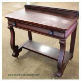 ANTIQUE Mahogany Empire One Drawer Server  Auction Estimate $100-$300 – Located Inside