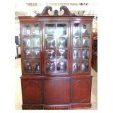 One of Several Mahogany China Cabinets  Auction Estimate $100-$300 – Located Inside