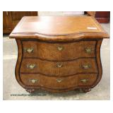 Decorator 3 Drawer Bombay Shape Chest  Auction Estimate $100-$300 – Located Inside