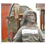 ANTIQUE Newel Post Lamp  Auction Estimate $100-$400 – Located Inside