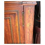 Mirrored Back Satinwood Adams Style Paint Decorated 2 Door China Cabinet  Auction Estimate $200-$40