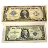 Selection of U.S. Silver Certificate $1.00 Bills and Large $1.00 Silver Certificate  Auction Estima