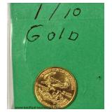 Gold $5.00 Coin  Auction Estimate $400-$800– Located Inside