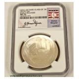Silver Commemorative Hall of Fame Coin  Auction Estimate $20-$50 – Located Inside