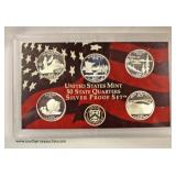 U.S. Mint 50 State Quarter Silver Proof Set  Auction Estimate $10-$20 – Located Inside