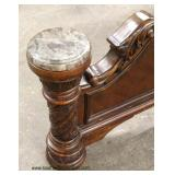 Burl Mahogany 3 Piece Marble Top King Bedroom Set Auction Estimate $300-$600 – Located Inside