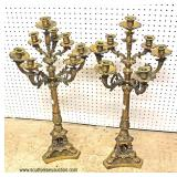 PAIR of Bronze Candelabrums  Auction Estimate $200-$400 – Located Inside