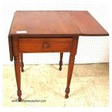 ANTIQUE One Drawer Drop Side Work Table Auction Estimate $100-$300 – Located Inside