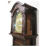 ANTIQUE Mahogany Tall Case Grand Father Clock with 5 Tubes from Baltimore Auction Estimated $400-$80