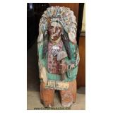 ANTIQUE Wooden Cigar Store Indian in as Found Condition and Original Paint Auction Estimate $200-$40
