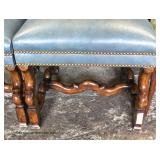 Set of 8 High Back William and Mary Leather Dining Room Charis Auction Estimate $400-$800 – Located