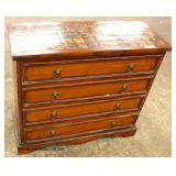 Contemporary 4 Drawer Bachelor Chest with Marble Decorated Style Top   Auction Estimate $100-$300 –
