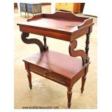 Antique Style One Drawer Mahogany Stand   Auction Estimate $50-$100 – Located Inside