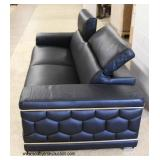 NEW Leather Sofa with Adjustable Head Rest in the Italian Leather   Auction Estimate $300-$600 – Loc