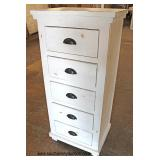 NEW Reclaim Distressed SOLID Wood 5 Drawer Lingerie Style Chest   Auction Estimate $100-$300 – Locat
