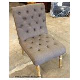 NEW Button Tufted Contemporary Side Chair   Auction Estimate $50-$100 – Located Inside