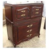 VINTAGE SOLID Mahogany High Chest and Low Chest in the French Style with Fitted Interior   Auction