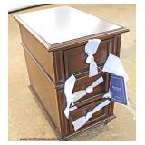 "NEW ""Hooker Furniture"" Mahogany Finish 3 Drawer Side Cabinet   Auction Estimate $100-$200 – Located"