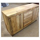 NEW Reclaim Wood Natural Finish Decorator Buffet   Auction Estimate $100-$300 – Located Inside