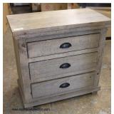 NEW Grey Washed SOLID Wood 3 Drawer Night Stand   Auction Estimate $50-$100 – Located Inside
