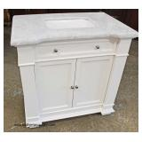 "NEW 36"" Marble Top Bathroom Vanity   Auction Estimate $200-$400 – Located Inside"