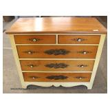"Natural Cherry ""Hitchcock Furniture"" Stenciled Chest   Auction Estimate $100-$200 – Located Inside"
