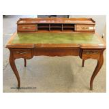 SOLID Cherry Leather Top French Provincial Style Ladies Writing Desk   Auction Estimate $100-$300 –