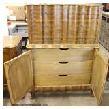 """QUALITY VINTAGE """"Leonardo Furniture Company"""" SOLID Mahogany French Provincial Style High and Low Che"""